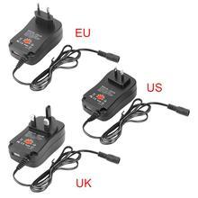 Adaptador de corriente USB ajustable, Universal, 3V/4,5 V/5V/6V/7,5 V/9V/12V 1A, adaptador de carga de 30W, adaptador de fuente de alimentación EU/US/UK