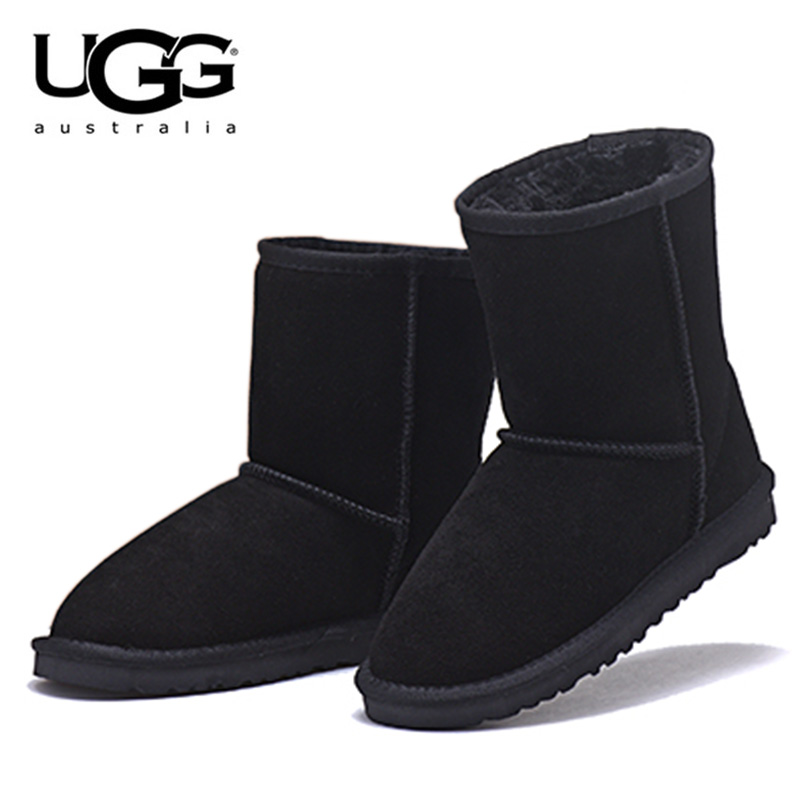 Original UGG Boots 5825 Leather Fur Snow Boots Women Australia Boots Winter Ugg Boots For Women Warm Ugged Mujeres Botas