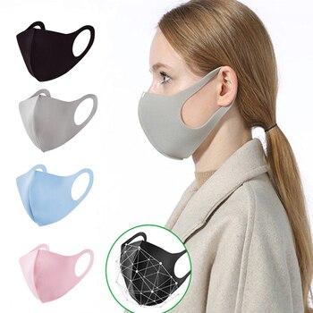 100pcs Black Gray Pink Face Mouth Mask Unisex Dust-proof Cotton Mascarillas Reusable Anti Fog Dust Haze Mouth Cover Washable