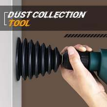 Perceuse électrique cache-poussière en caoutchouc Impact marteau perceuse collecteur de poussière dispositif anti-poussière outil électrique accessoires