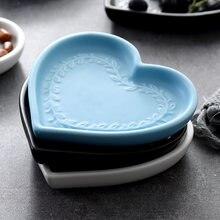 Креативная керамическая тарелка в форме сердца неправильной