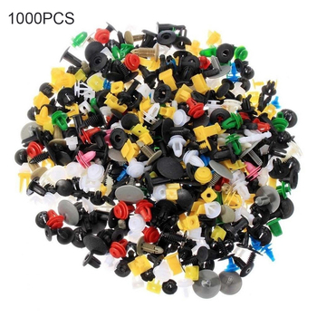 1000pcs/set Car Trim Rivets Mudguard Fender Door Panel Push Pins Bumper Interior Decoration Plastic Clips image