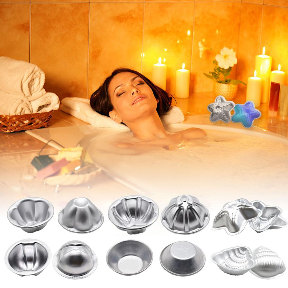 12pcs Bath Bombs Molds 6 Styles DIY Metal Bath Bomb Moulds Accessories For Handmade Soap Bath Bomb Crafts Gifts