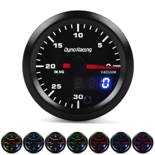 "Dynoracing 2 ""52mm 7 צבעים הפכפכות תאורה אחורית מד ואקום מטר במהירות גבוהה מנוע צעד עם חיישן רכב מטר TT101869"
