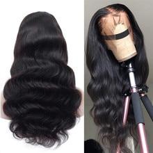 Pelucas de cabello humano ondulado de 13x6, cabello brasileño Remy prearrancado con línea de cabello Natural, 150% de encaje