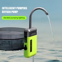 Bomba de agua de oxígeno para Pesca 3 en 1, Sensor inteligente recargable, Interruptor de luz LED, portátil, Pequeña carga, iluminación LED