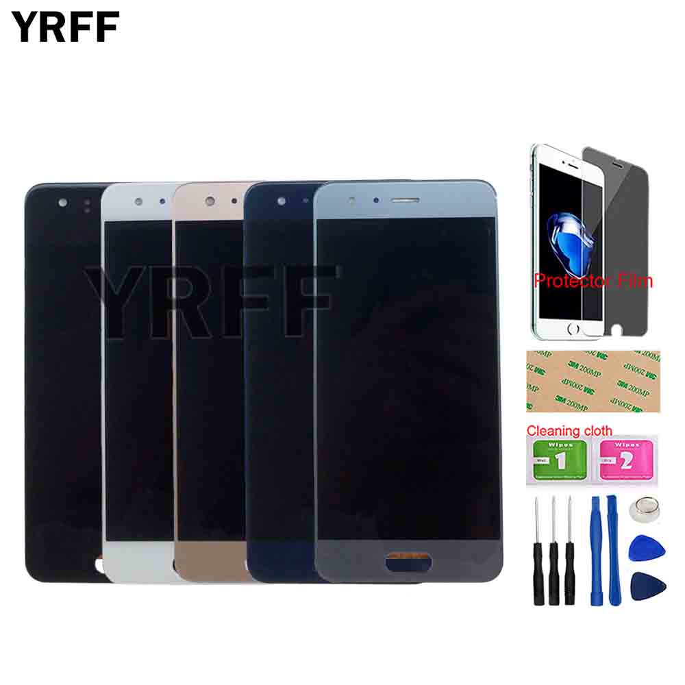 Phone LCD Display For Huawei Honor 9 Display Touch Screen Digitizer Assembly Repair STF-l09 STF-AL10 Sensor Tools Protector Film