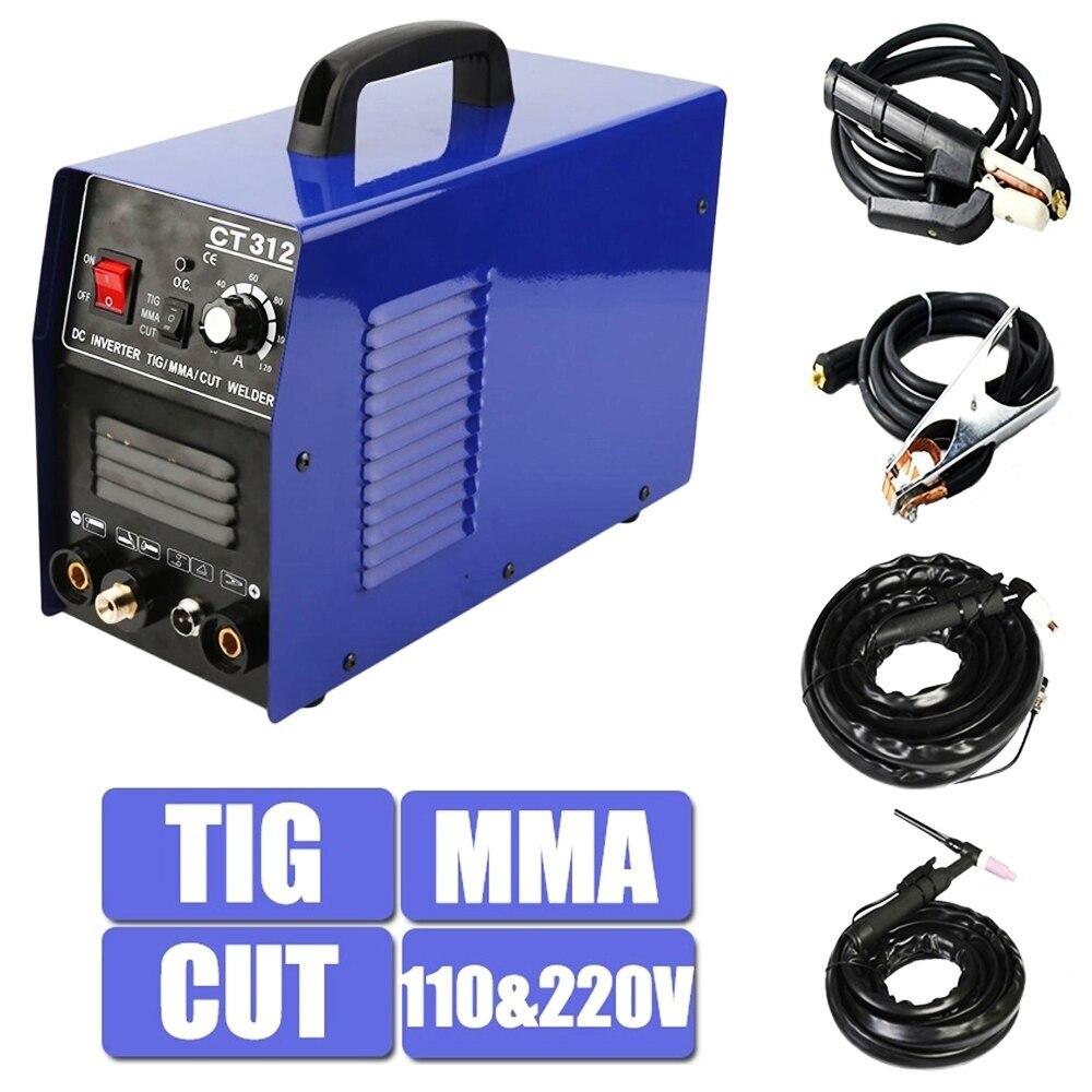 CT312 Plasma Cutter TIG CUT MMA  3In1 Multifunction ARC TIG  Welder Machine 220V
