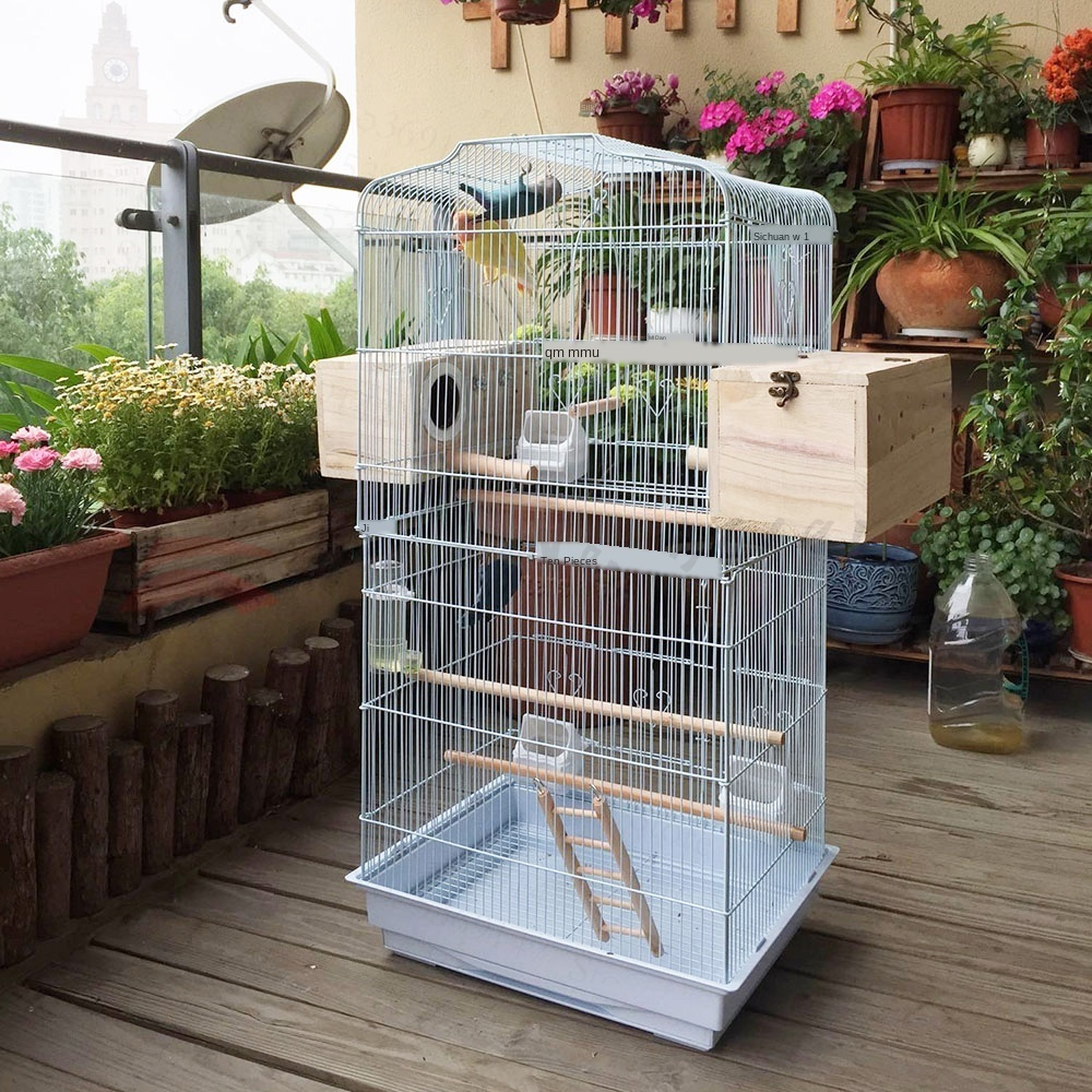 European Luxury Parrot Cage Bird Cage Budgie Parrot Myna Xuanfeng Large Giant Oversized Villa Breeding Cage Bird House