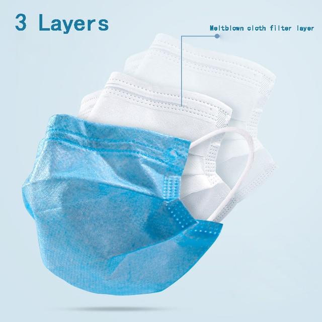 Child Mask Child protection mask Kids Face Mouth Masks 30/50pcs 3 layers Non-woven Disposable Meltblown Cloth Anti-Dust masks 1