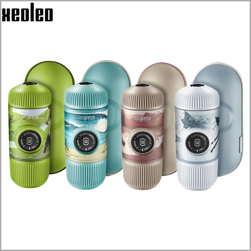 XEOLEO WACACO Nanopresso Coffee Maker Portable Manual Coffee Machine 18Bar/80ml Outdoor Travel Hand Press Coffee For Powder