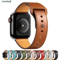 PU lederband Für Apple uhr band 44mm 40mm 42mm 38mm 44mm Smartwatch Zubehör Sport armband iWatch serie 3 4 5 6 se