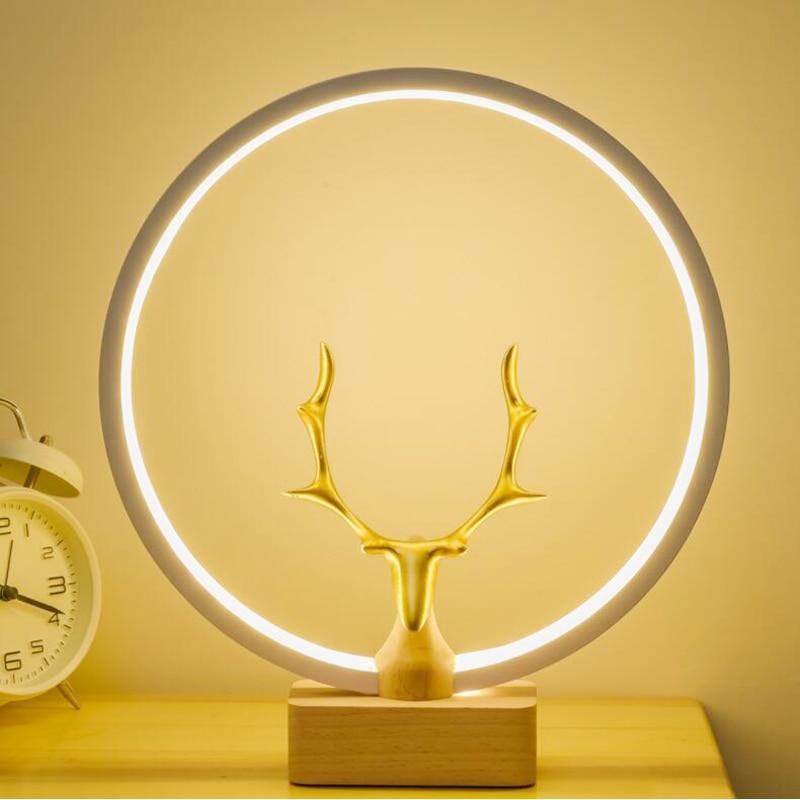 led de madeira maciça quarto cabeceira luz