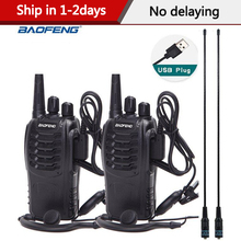 2Pcs Baofeng BF 888S Mini Walkie Talkie Portable Radio CB radio BF888s 16CH UHF Comunicador Transmitter Transceiver