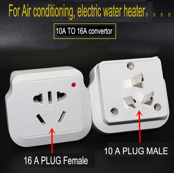 Universal 10A to 16A conversion plug socket high power air conditioner water heater 16 amp socket converter