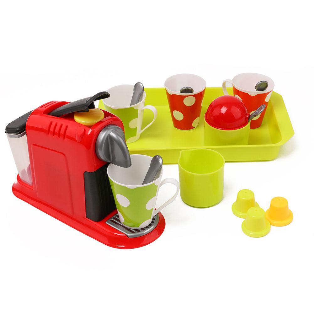 Kuulee Coffee Stir Machine Set Kitchen Toy For Kids And Girls Simulation Mini Small Appliances