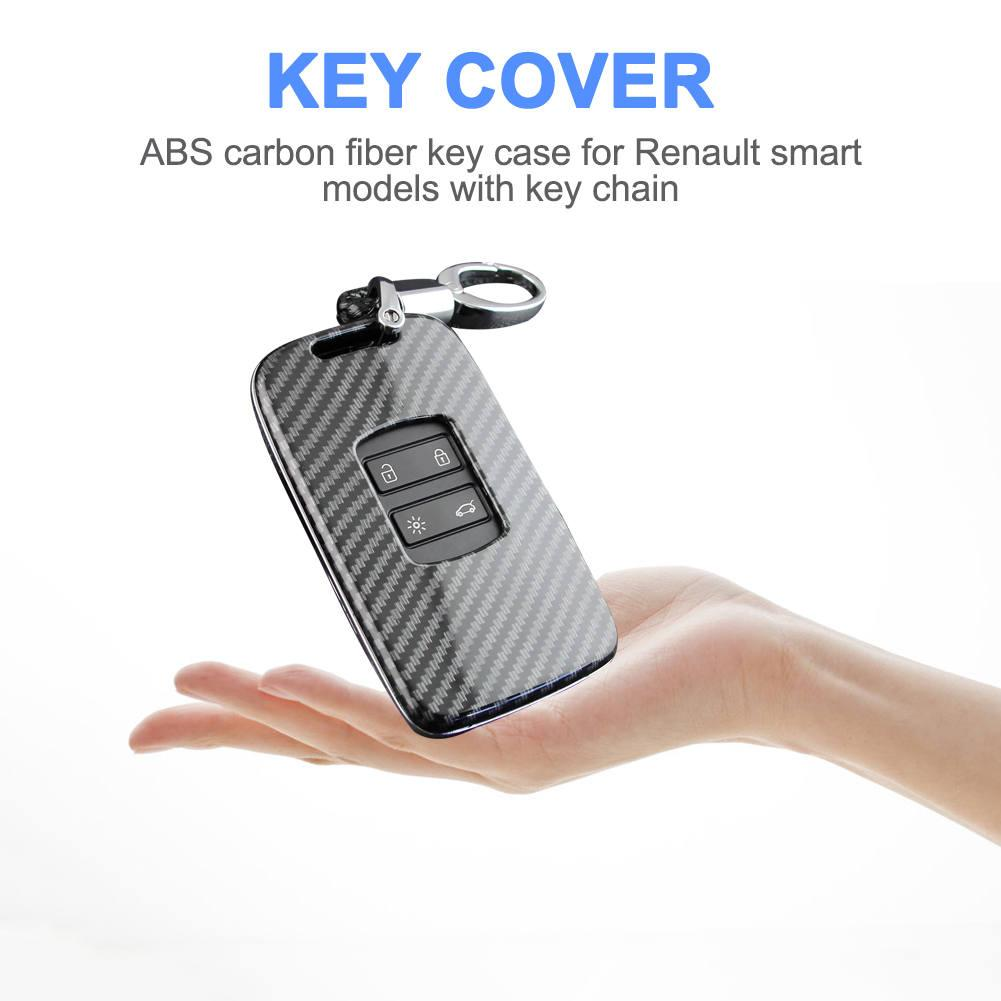 Image 3 - Car Key Case Fob Bag Holder ABS Hard Shell Cover Parts Fit For Renault Koleos 2017 2019 Kadjar Megane Car Key Accessories-in Key Case for Car from Automobiles & Motorcycles