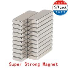Jtengsys Super Strong 20PCS N52 Neodymium Magnet 30 x 10 4 mm Bulk Useful Strip Block Bar fridge Magnets Rare Earth