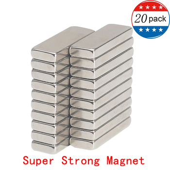 Jtengsys Super Strong 20PCS N52 Neodymium Magnet 30 x 10 x 4 mm Bulk Useful Strip Block Bar fridge Magnets Rare Earth
