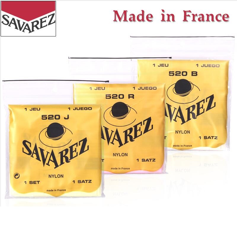 Savarez 520 Traditional Series Classical Guitar Strings, 3 Tensions Available, Sell By 1 Set