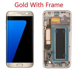 Image 4 - Grade Aaa + + + Originele 5.5 Super Amoled Lcd Met Frame Voor Samsung Galaxy S7 Edge Lcd G935 G935F Touch screen Digitizer Display