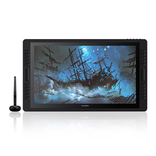 HUION Kamvas Pro 22 2019 Pen Tablet Monitor Graphics Drawing Pen Display Monitor with 8192 Levels Batter free Pen Dual Touch Bar