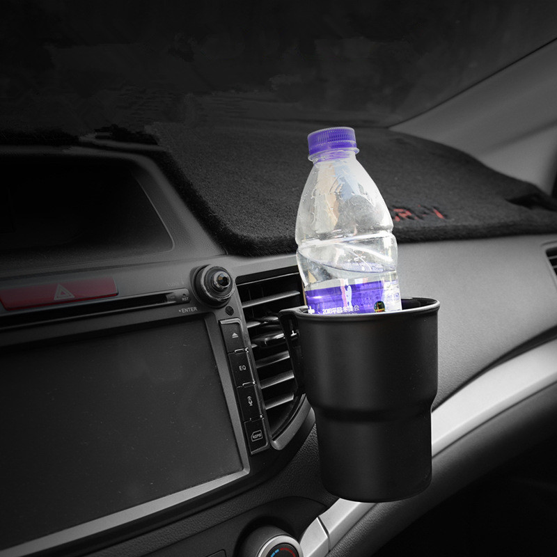 Universal Car Cup Holder Hanging Air Vent Outlet Door Mount Bottle Drinks Holder for Coin Keys Phone Stand Multifunctional Box(China)