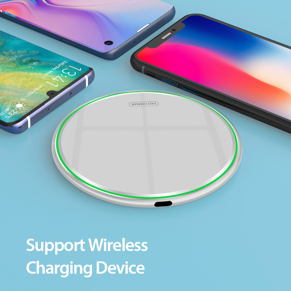 Quick 15W QI Wireless <font><b>Charger</b></font> For Huawei nova 7 SE <font><b>USB</b></font> C <font><b>10W</b></font> QC 3.0 Fast Charging Pad for Huawei Y8s Y6p Y7p Y5p Honor 8A 8C 8S image