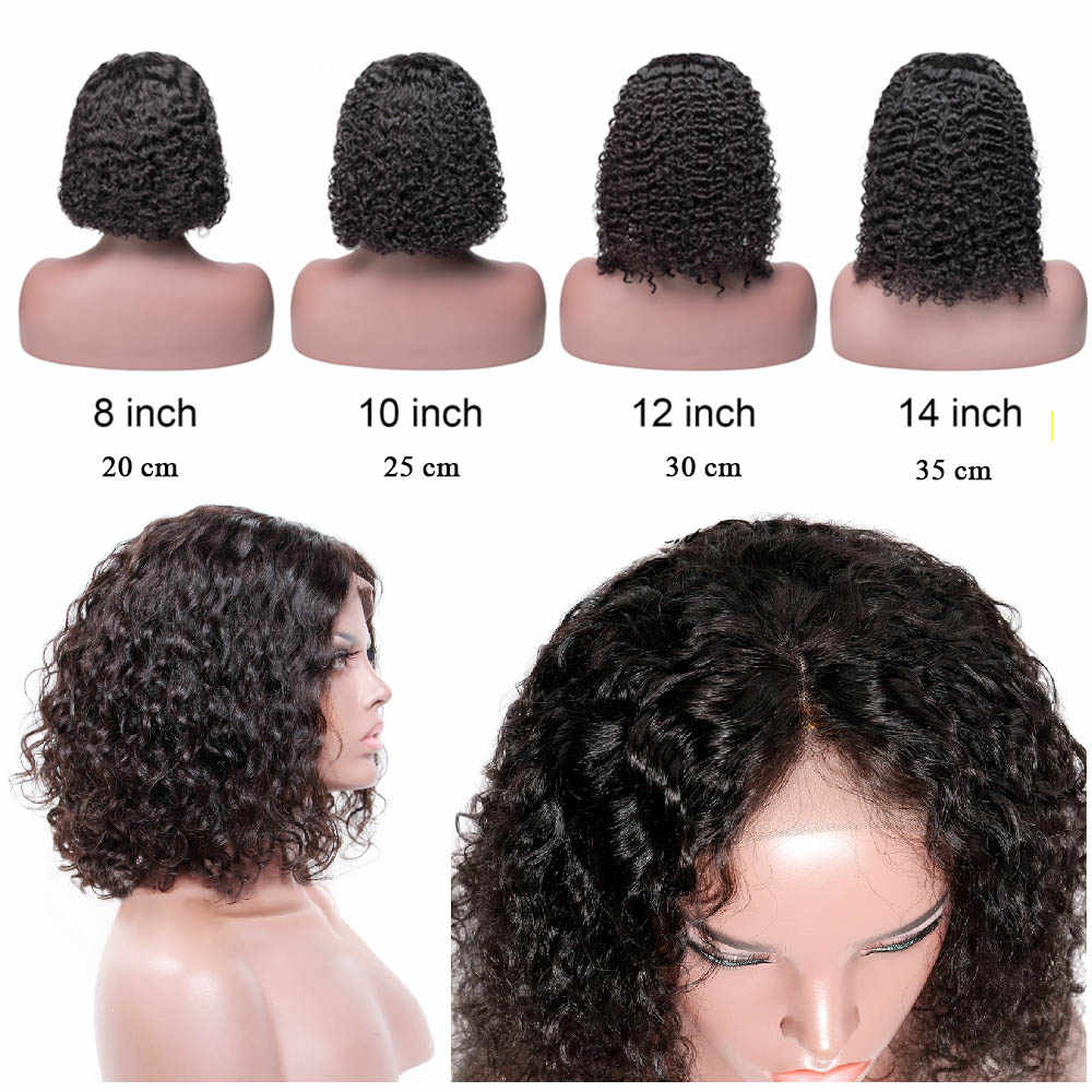 PromQueen krótkie kręcone koronki przodu włosów ludzkich peruk dla czarnych kobiet brazylijski perwersyjne kręcone pełna i gruby peruki darmowa wysyłka