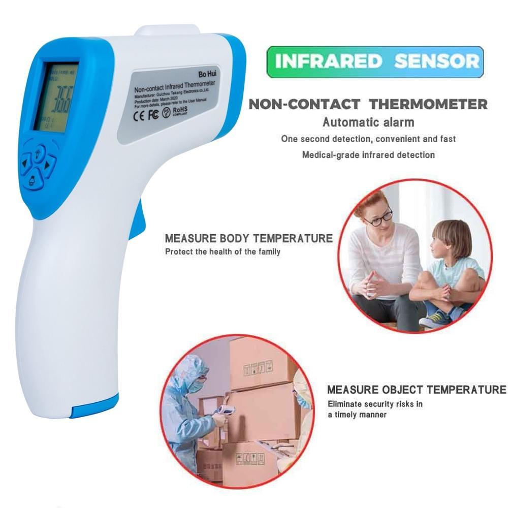 BOHUI T-168 infrarrojo IR termómetro frente superficie Digital sin contacto termómetro electrónico 32-42,9 grados Celsius DHL gratis - 5