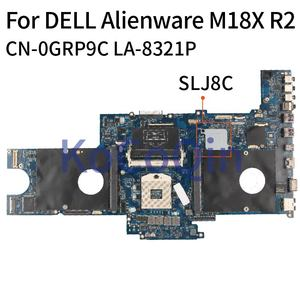 KoCoQin Laptop motherboard For DELL Alienware M18X R2 SLJ8C ainboard CN-0GRP9C 0GRP9C LA-8321P HM77(China)