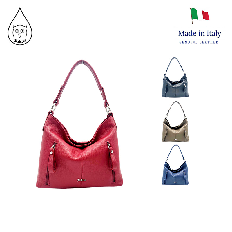 JUICE ,made In Italy, Genuine Leather, Women Bag,Shoulder Bags/cross Body,dollaro Leather 112032