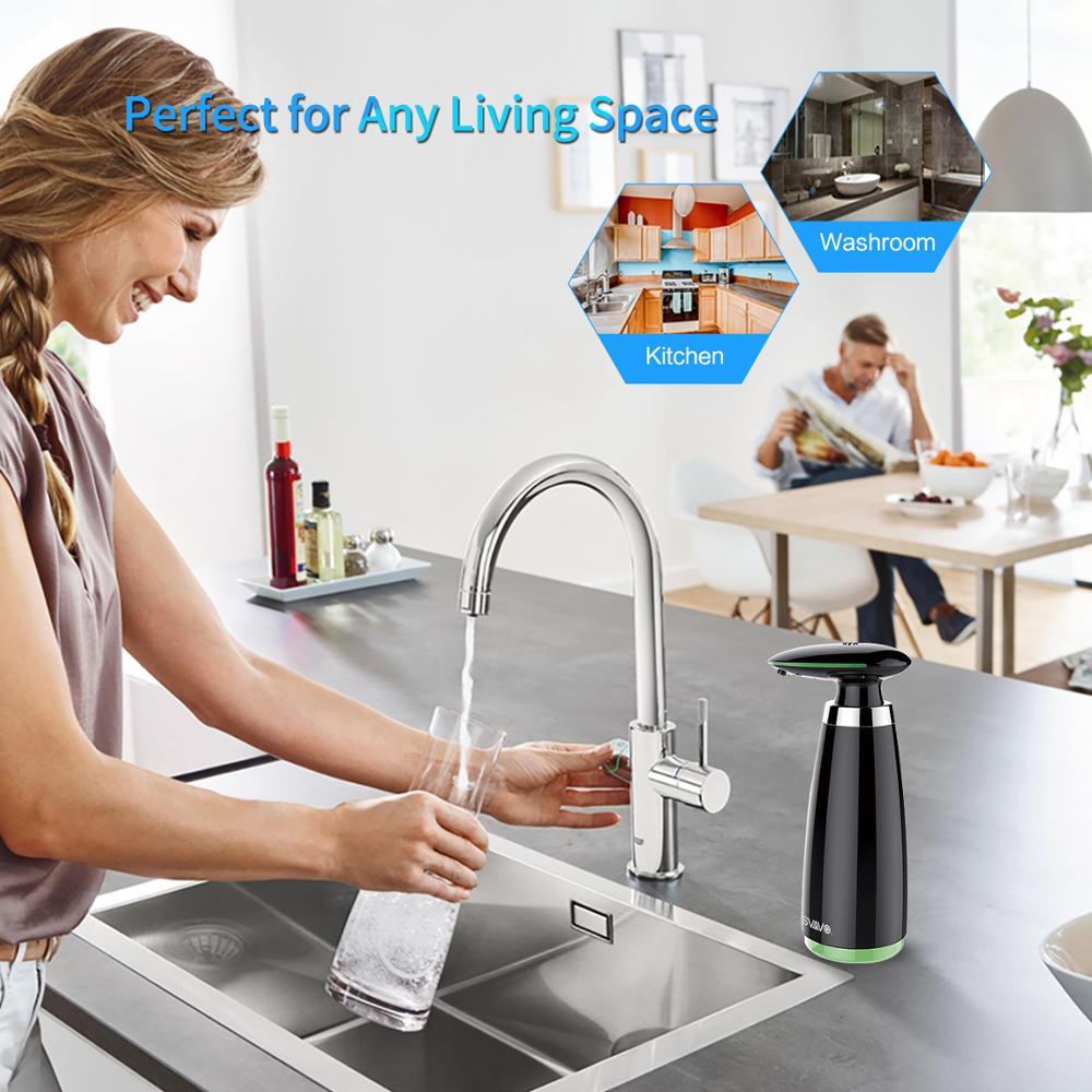 SVAVO 350ml Automatic Soap Dispenser Infrared Touchless Motion Bathroom Dispenser Smart Sensor Liquid Soap Dispenser for Kitchen 2