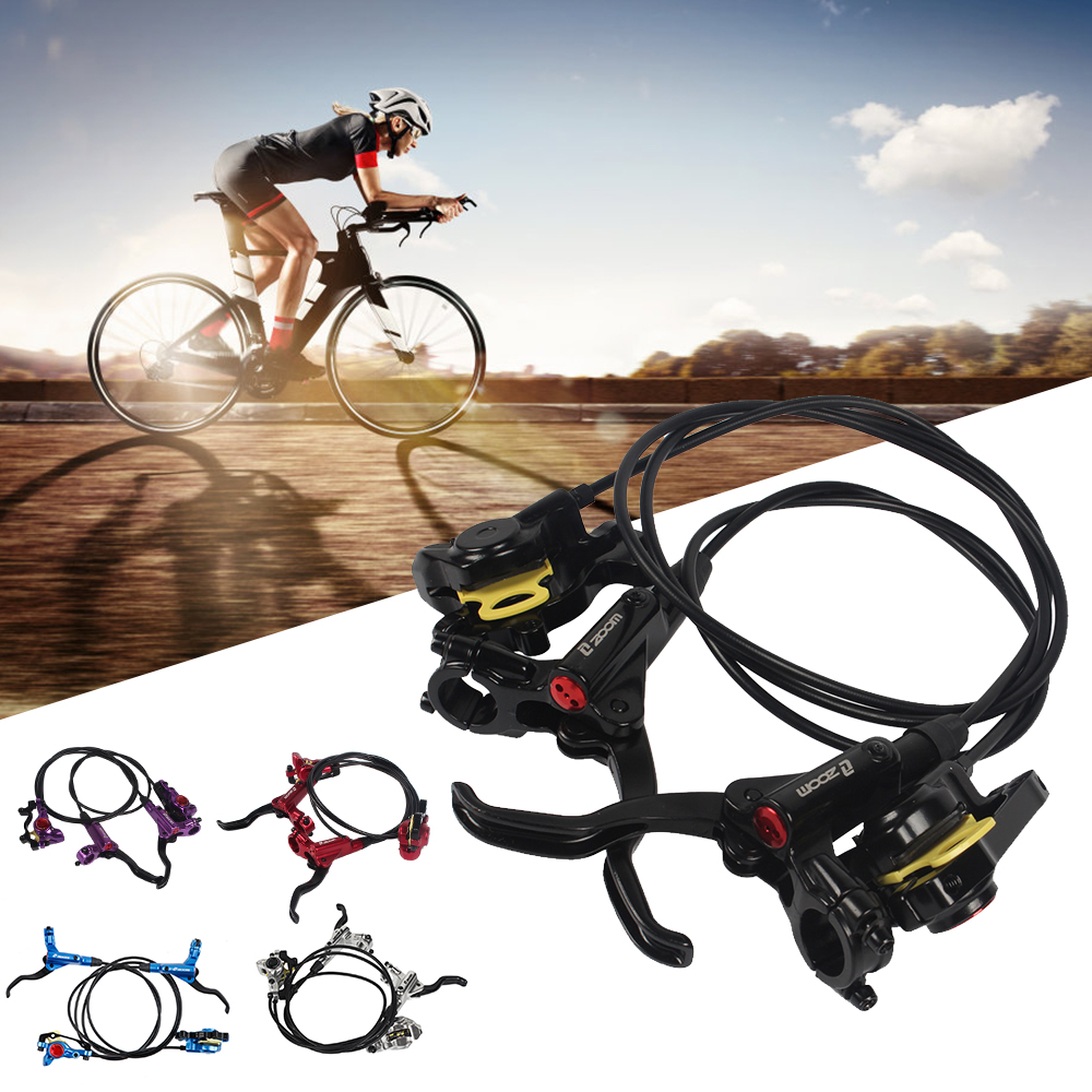 MTB Bicycle Bike Hydraulic Disc Brake Set Lever Calipers Front Rear T6 Quench Us