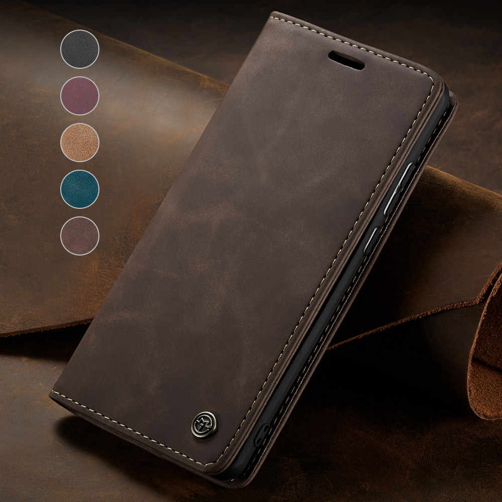 Elegante Magnetische Flip Soft Leather Case Voor Iphone 11 Pro Max X Xr Xs Max 7 8 Plus 6 6S 5 Se 5 S 2020 Shockproof Kaart Tas Cover
