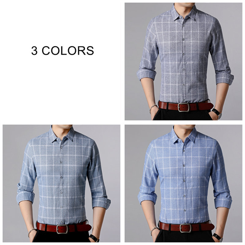 COODRONY Brand Men Shirt 2019 New Arrival Autum Business Casual Shirts Plaid Long Sleeve Cotton Shirt Men Camisa Masculina 96080 in Casual Shirts from Men 39 s Clothing
