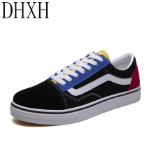 DHXH Men Canvas Shoes 2020 Winter Fashion Mixed Color Men �