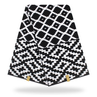 lasted black & white african fabric real 2019 new ankara african wax print 6 yards/lot for women wedding dress