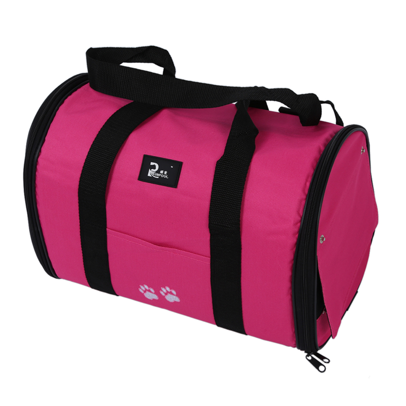 M Pet Dog Cat Puppy Portable Travel Carrier Tote Bag Crates Kennel - Rose Red thumbnail