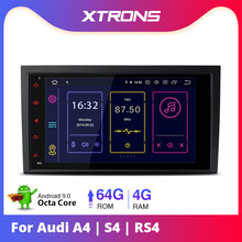 "XTRONS 8 ""Android 9.0 Car Radio Player GPS USB OBD NO DVD per Audi A4 S4 B6 B7/ RS4 2002 2003 2004 2005 2006 2007 2008/SEAT Exeo(China)"