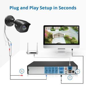 Image 5 - SANNCE 8CH 1080N DVR 1080N CCTV 시스템 1080P 2.0MP 보안 카메라 IR 야외 IP66 비디오 감시 키트 모션 감지