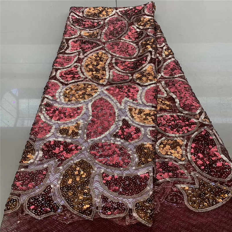 Cassiel Gold High Quality Nigerian Lace Fabrics Latest Mesh African Sequins Lace Fabric Bride Guipure French Net Lace Fabric