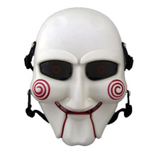 Halloween Cosplay Billy Jigsaw Saw Puppet Mask Popular Masquerade Costume Props Increase Festive Atmosphere