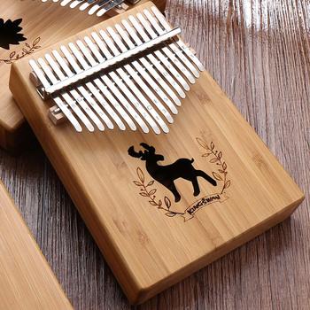 W-17T 17 klawiszy Kalimba Thumb Piano wysokiej jakości drewno mahoń Mbira Body instrumenty muzyczne z poradnik Kalimba Piano tanie i dobre opinie Beginner Pianino Metal Orzech Z litego drewna 11 18 5cm 17 key thumb piano Kalimba musical