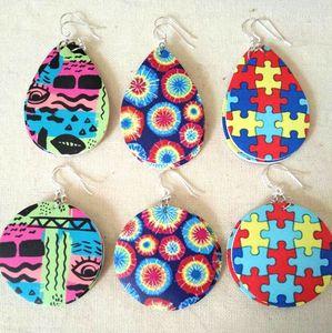 Image 1 - 30 คู่คริสต์มาสของขวัญBohoสไตล์PUหนังGlitter Sparklyต่างหูรูปไข่ต่างหูแฟชั่นสำหรับผู้หญิง