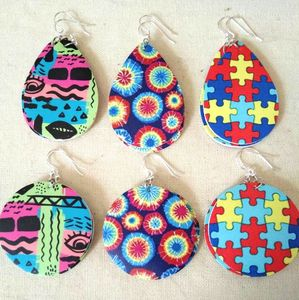 Image 1 - 30pairs lot Christmas Gift boho Style PU leather glitter sparkly Oval Earrings Fashion Dangle Earrings for Women