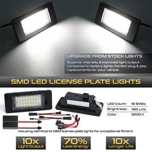 Image 2 - 2pcs Car LED License Number Plate Lights Lamp For Seat Ibiza ST MK5 Alhambra MK2 Ateca (KJ7.KH7)white NO Error