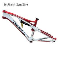 stock limited TY full carbon bike frame 26er 16.5 inch 42 cm with DT rear shock suspension