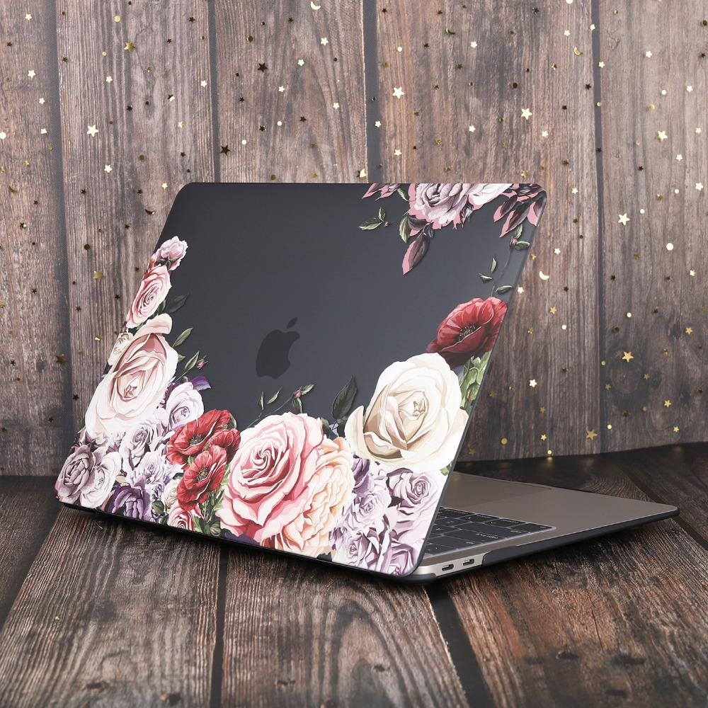 Marble Flower Bling Case for MacBook 83