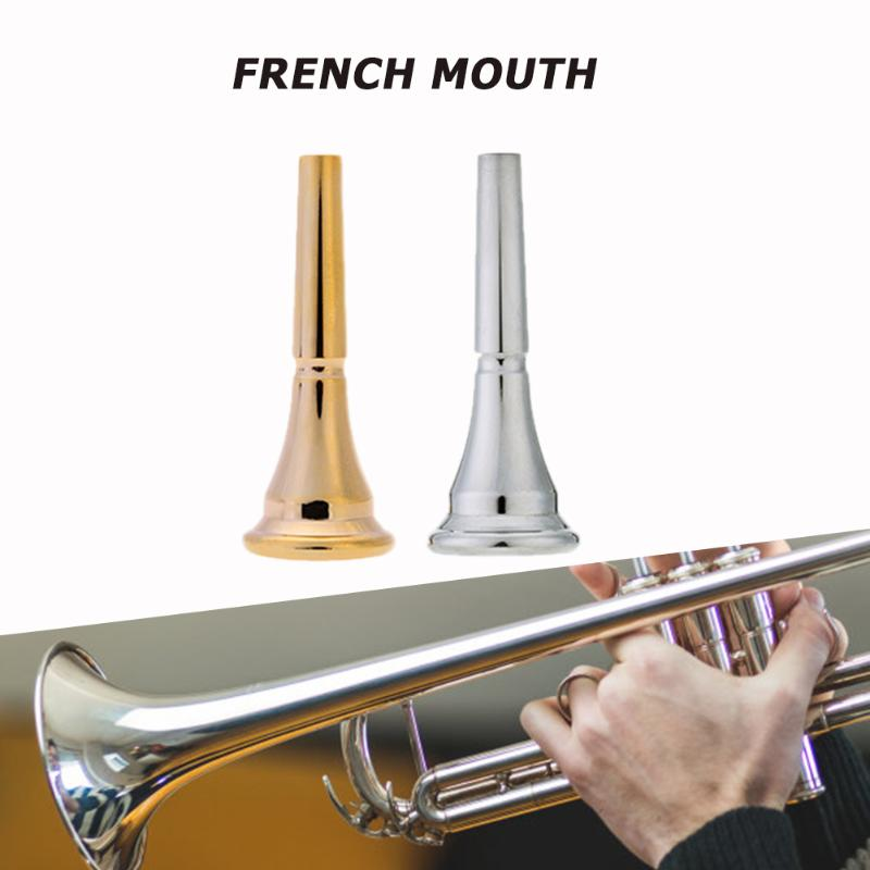 Silver-plated Copper Alloy Trumpet Mouthpiece Durable Reusable French Horn Mouthpieces Brass Musical Instrument Parts